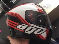 BRAND NEW AGV K5 MOTORCYCLE HELMET BOXED NEVER USED SIZE ML DRIFT BLACK WHITE RED