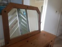 CORONA MEXICAN PINE MIRROR GOOD CONDITION LARGE