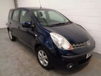 NISSAN NOTE , 2006/56 REG , ONLY 48000 MILES + FULL HISTORY , YEARS MOT, FINANCE AVAILABLE, WARRANTY