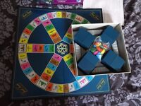 Board games Trivial Pursuit, Battle of the sexes and Never mind Buzzcocks