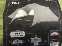 Large 3 bedroom tent with cooking accessories
