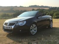 VW Eos Convertible 2.0 TFSI, Excellent condition, low mileage, leather interior, high spec.