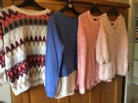Bundle of Ladies jumpers size 12