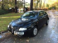 2002 Alfa Romeo 147 1,6 litre 3dr