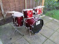 Drums - Beginners CB 5 Drum Kit - Red Wine