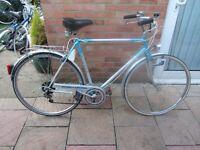 mens dutch hybrid bike with lock tall 23inch frame £65.00