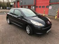 Peugeot 207 1.4 HDI 3 Door 2006 Black Manual Full Service History
