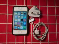 IPhone 4s 32GB in white Unlocked to all networks with box.