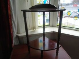 small wooden corner table