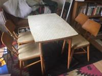 1950/60's table and chairs retro vintage