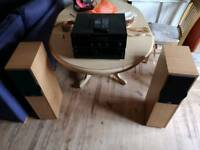 Hi fi separates with floor standing speaker