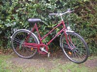 vintage hercules ladies 3 speed 21 inch frame,royal gel large saddle,runs well