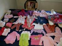 Baby shirt etc for baby girl. 6-9 mouth