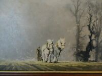 Large Print by David Shepherd - Winter Plough