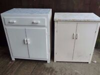 2 x 1970's kitchen units Delivery available £15