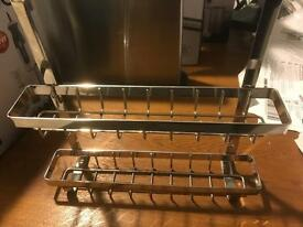 Stainless Steel Spice rack.