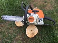 Stihl chainsaw MS181c petrol saw log burner garden