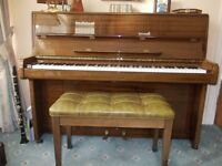 WELMAR piano with stool, unmarked condition, genuine reason for sale