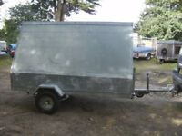VERY RARE FULLY GALVANISED STEEL ADVERTISING SIGN ROAD TRAILER...