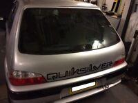 Peugeot 106 tailgate GTI quiksilver fibreglass