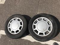 VW GOLF MK3 GTI 16V VR6 2x ALLOY WHEEL RIMS 196/65 R15 - TYRES 5X100