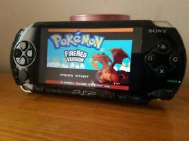 Sony psp console 8gb 1500 games