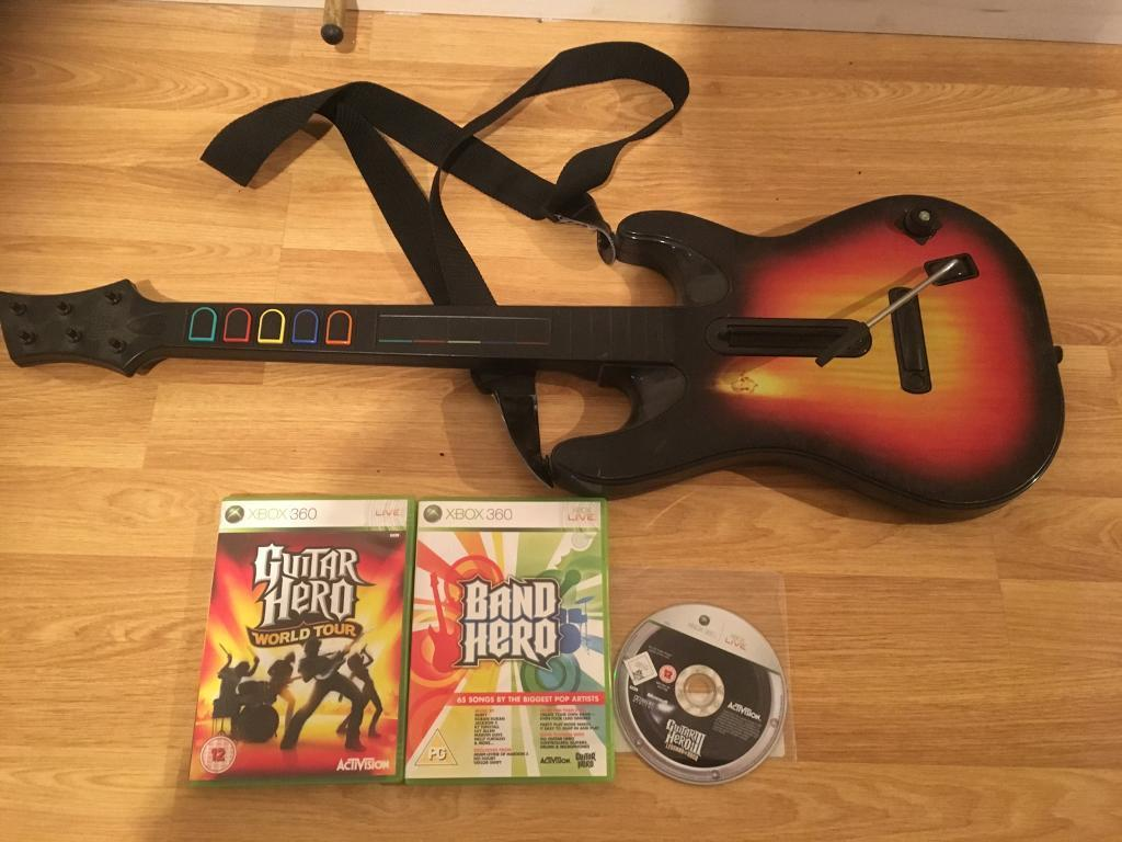 Xbox 360 Guitar hero with 3 Games £10 no offers