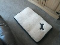 Dog bed with memory foam small dog size in very good condition