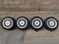 Seat Leon Cupra turbo alloy wheels, 16 inch with tyres, 2 are 5mm and the other are 2mm .