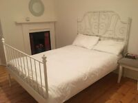 IKEA white bed frame and mattress