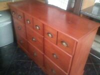 solid wood chest of draws & matching draws, can deliver if needed