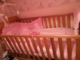 Mamma and papas cot bed in Exellent condition