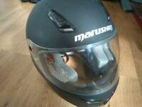 Free Marushin Black Medium Size Motorbike Helmet