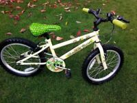 "Girls mountain/forest bike, 18"" wheels ""Excellent condition""."