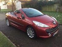 Peugeot 207 CC 1.6 16v GT 2dr£2,499 p/x welcome 6 MONTHS FREE WARRANTY