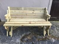 2 in 1 FOLDING PICNIC TABLE/SEAT/BENCH