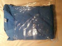 Nurse hospital scrubs new. blue. trouser and top.