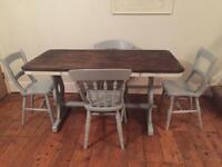 Dining table and 4 chairs (free local delivery)
