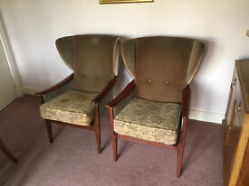 Parker Knoll Winged Armchairs 1970s?