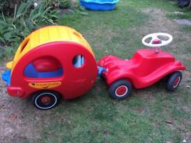 Bobby Car with Travel Trailer and Push Pole