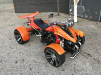 ROAD LEGAL 2013 Spy Quad bike 250cc - Geared + Reverse - Only 206 miles with MOT till July 2018 P/X