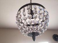 Antique Brass Finish Chandelier baskets light