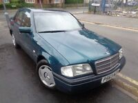 Mercedes C180 Classic Edition Green 1.8 Litre Petrol 4 Door Saloon 1996