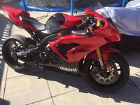 yamaha r1 2007 5vy track bike with V5 hpi clear
