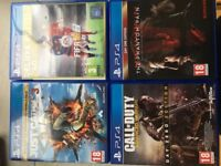Collection of Playstation 4 games