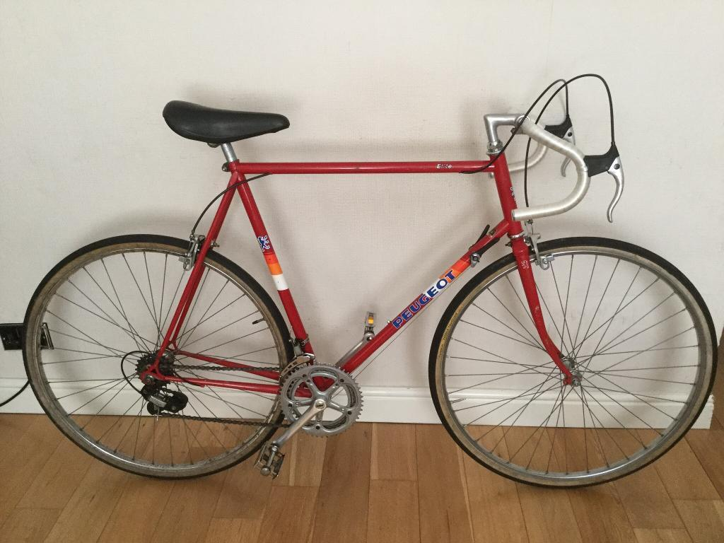 peugeot bike 1980s racing elite frame 63cm extra bicycles ended ad