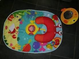 Tummytime baby playmat