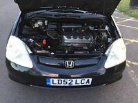 2002 Honda Civic 1.6 i VTEC S 5dr HPI Clear Warranted Mileage @07445775115