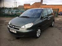 PEUGEOT 807, 2.0 HDI DIESEL MOT AUTOMATIC 7 SEATER £1500