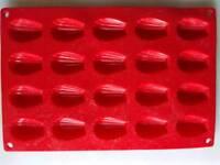 Silicone mini-madelein form